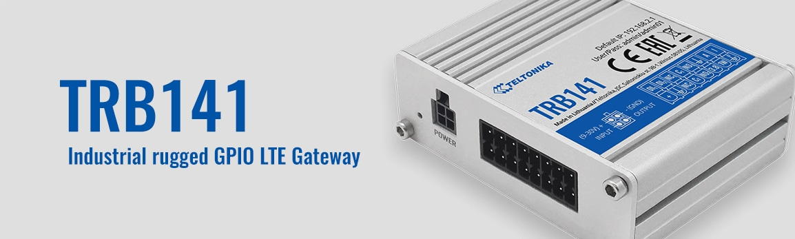 New TRB141 LTE Cat1 IoT gateway for smart I/O connectivity!