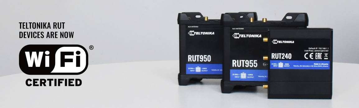 Teltonika RUT devices are now Wi-Fi CERTIFIED™!*
