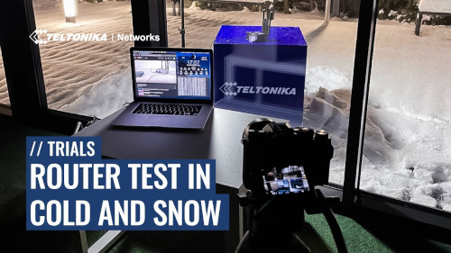 Router Test in Cold and Snow - How Long Will it Last?