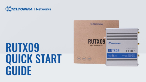 Quick Start Guide | Teltonika RUTX09 Router