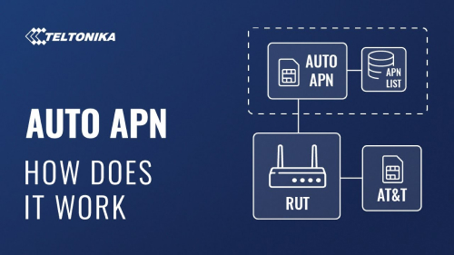 How does Auto APN work - Teltonika Networking