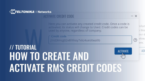 How to Create and Activate RMS Credit Codes