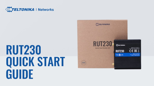 Quick Start Guide | Teltonika RUT230 Router