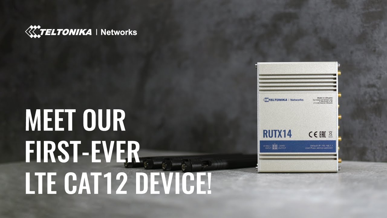RUTX14 - LTE CAT12 Industrial Cellular Router