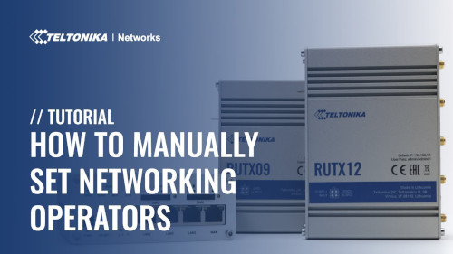 How to Manually Set Network Operators