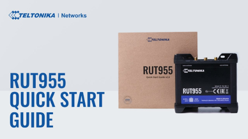 Quick Start Guide | Teltonika RUT955 Router